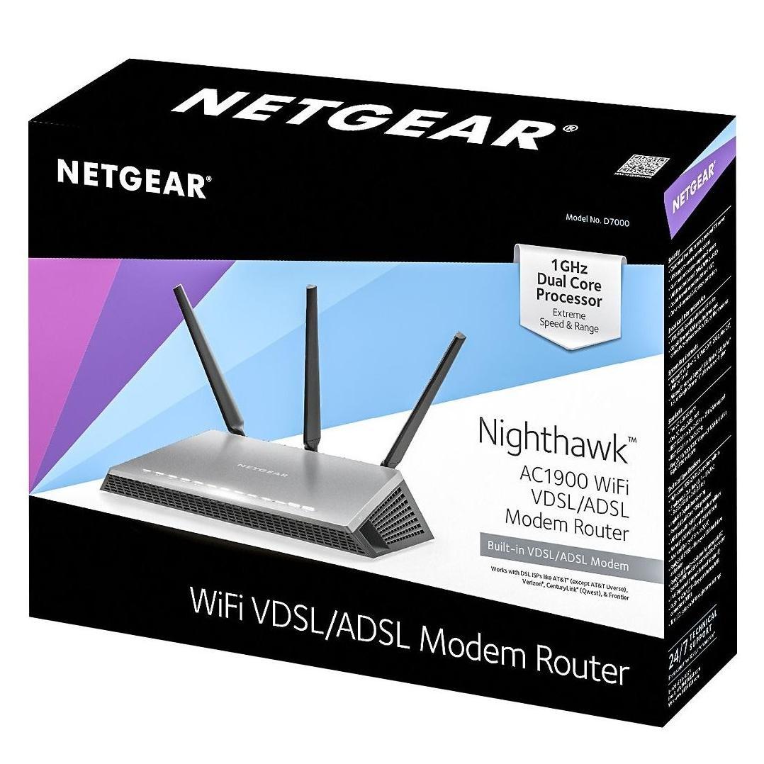 NETGEAR Nighthawk AC1900 Wi-Fi VDSL/ADSL Modem Router