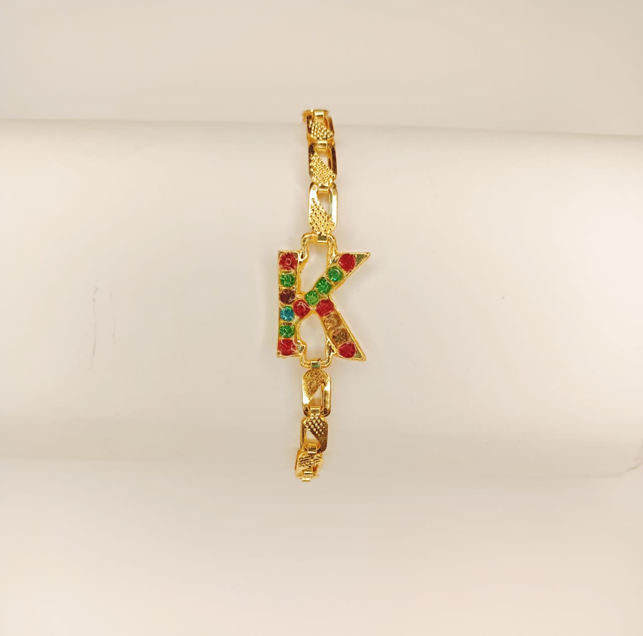 Stylish Gold Alloy K Zircon Bracelet For Girls, Women