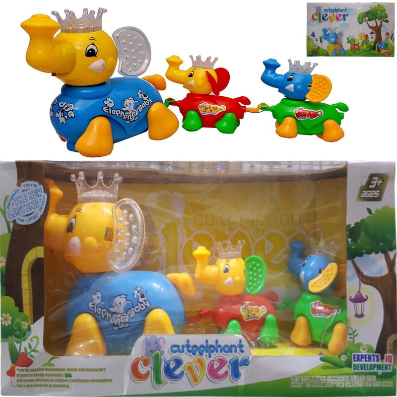 Cuteelphant Clever Train Moving Characters Elephant Family For Kids.