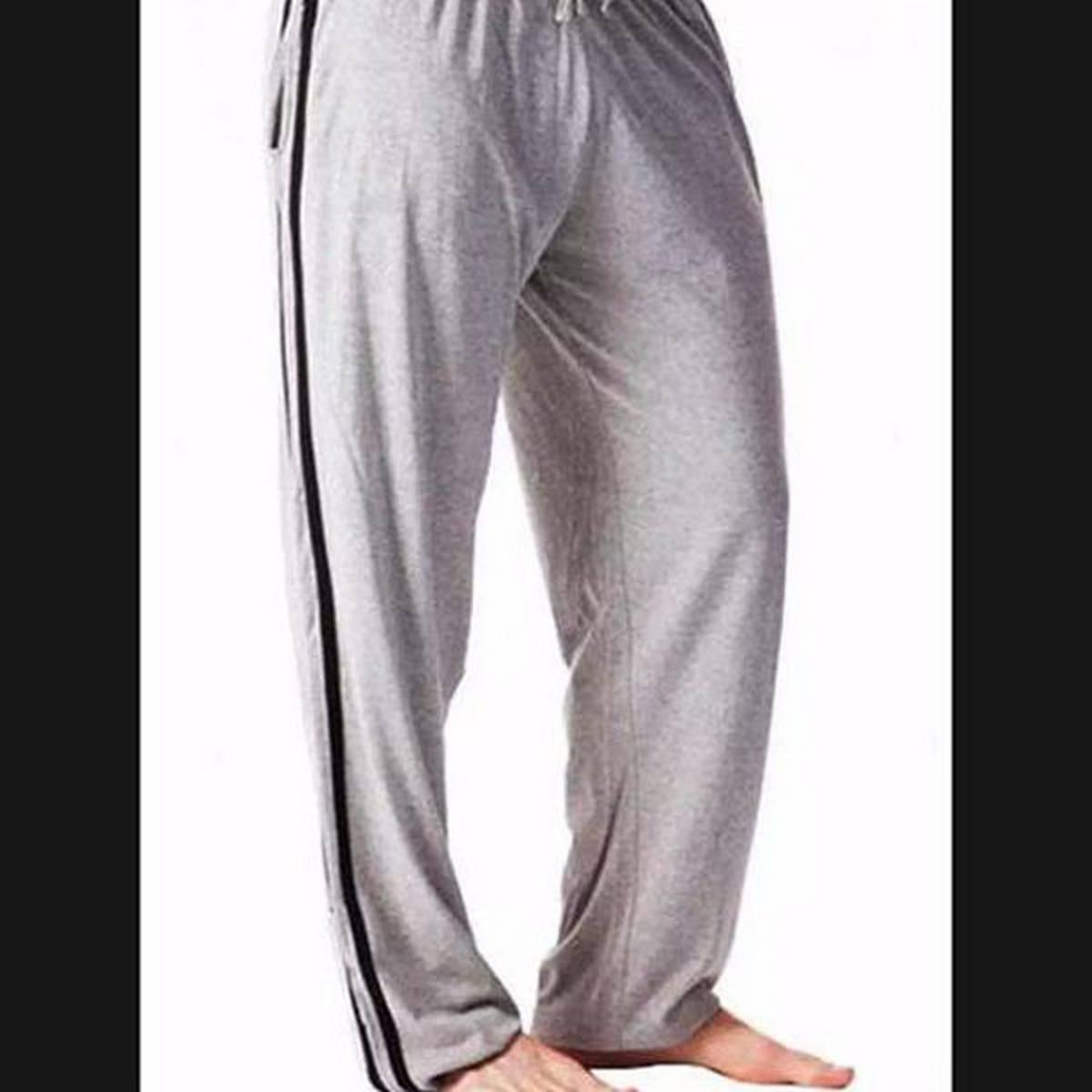 Gray Mens Cotton Jersey Trouser