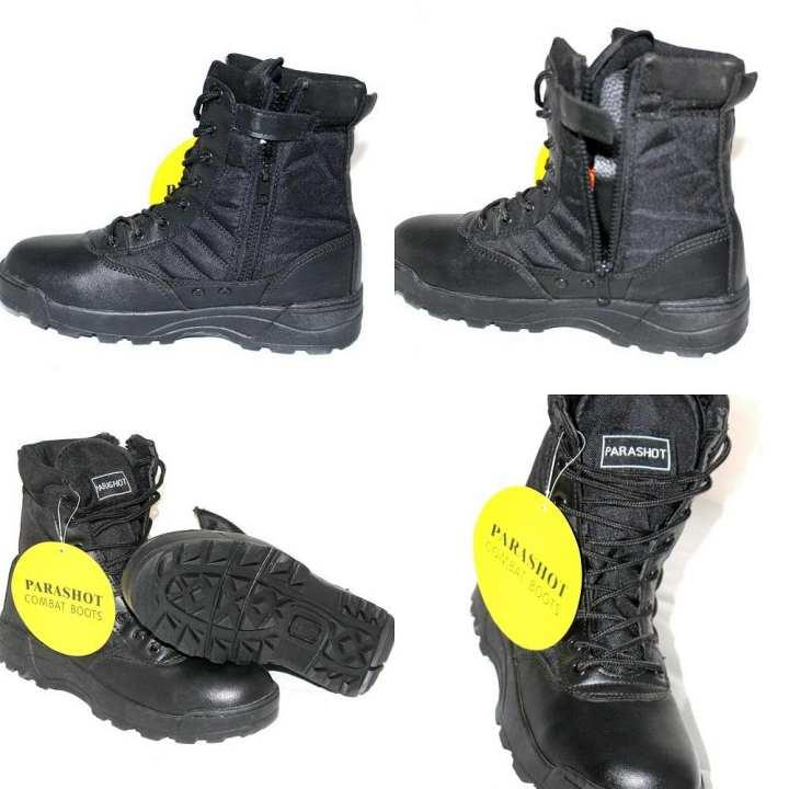 Parashot Combat Boots Black