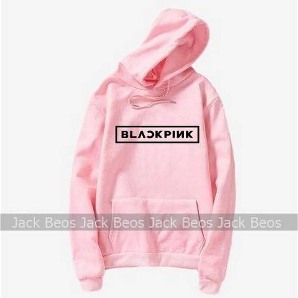 Blackpink Pink Fleece Hoodie For Women Limited Stock  - 11102019