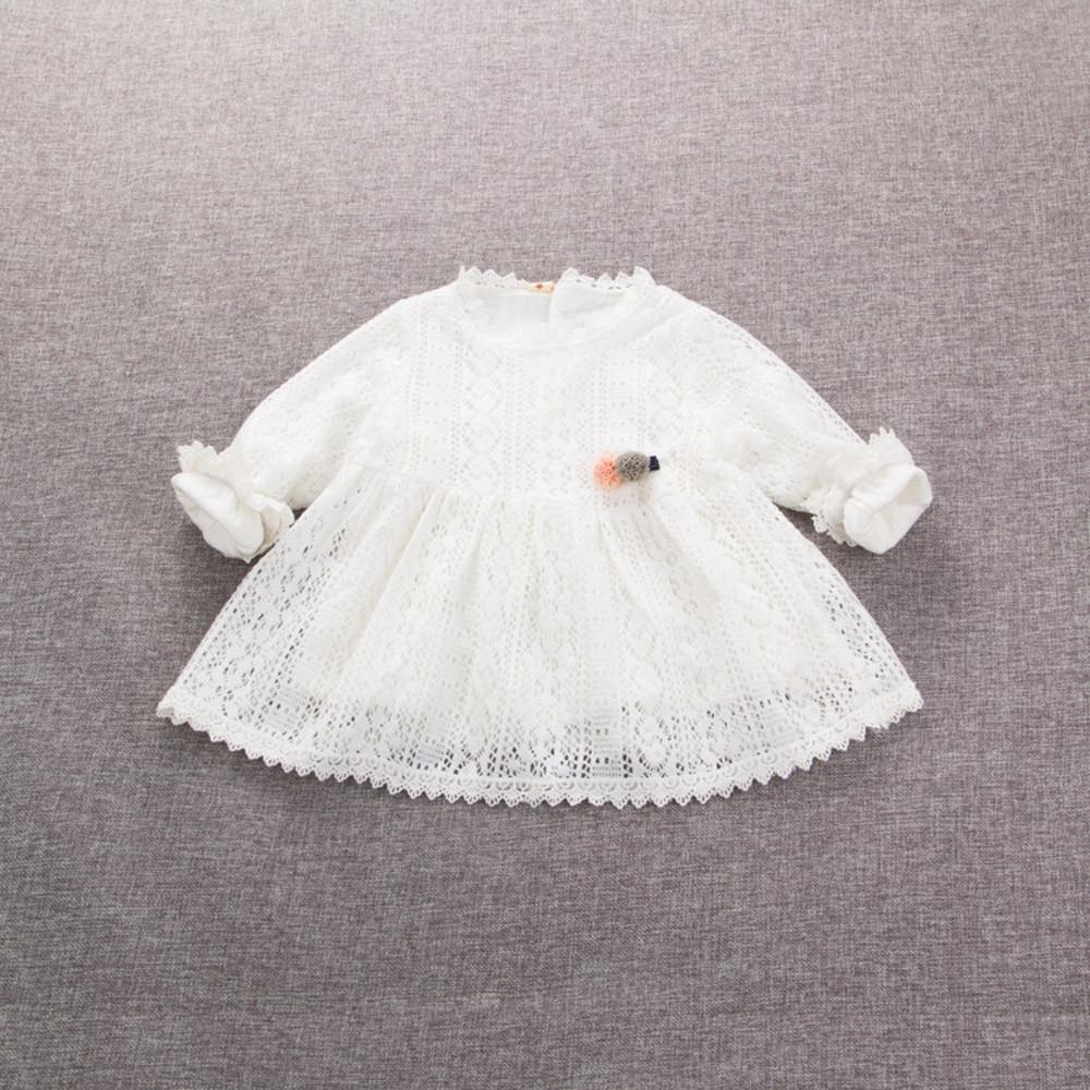 918d66e350b Rainbowroom Newborn Infant Baby Girl Lace Solid Cotton Party Princess Dress  Clothes Outfits