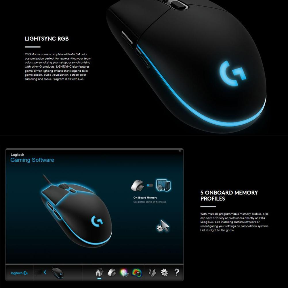 VAKIND Logitech G Pro Gaming FPS Mouse 12000DPI Wired Mouse for Competitive  Play