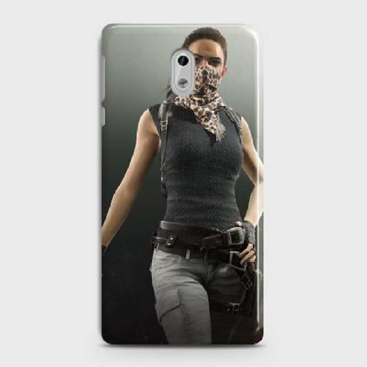 Nokia 6 Cover Pubg Female character Fancy Look Hard Cover- Design 8 Case