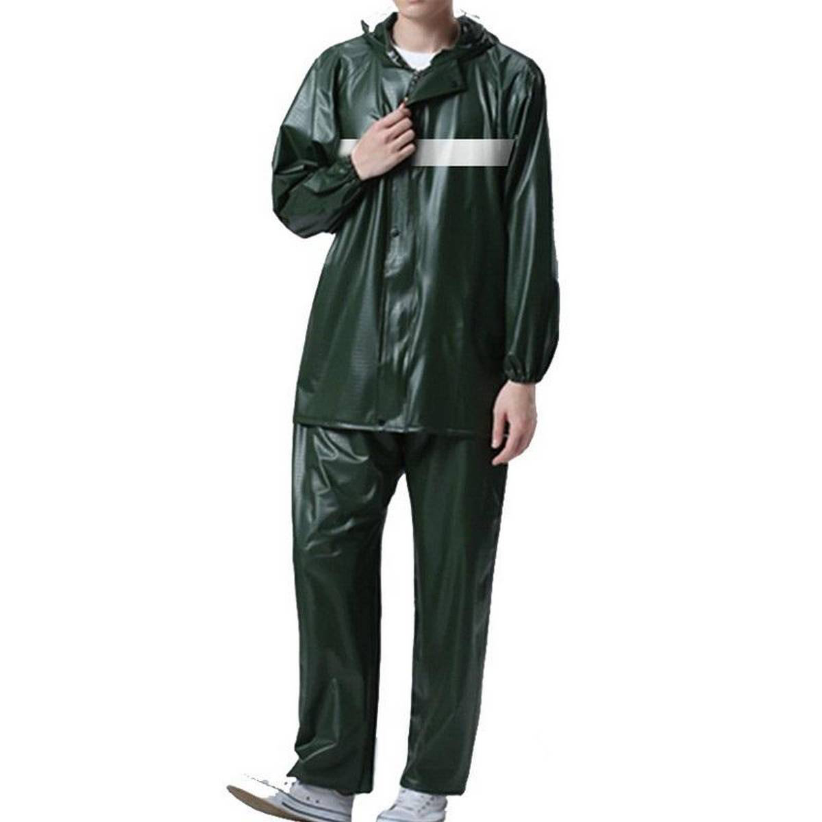 PREMIUM QUALITY / High Elasticity PVC Raincoat Pants Suit Waterproof Men Raincoat Impermeable Bicycle Motorcycle Electrombile Women Hooded Rainwear barsati
