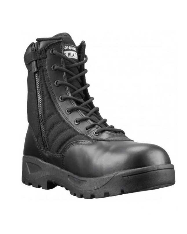 Black Swat Leather Boots for Men