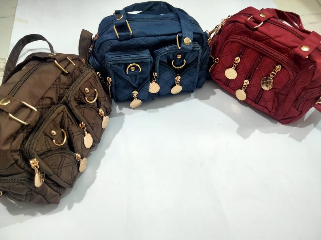 Small Parachute Hand Bag Fashion Women Ladies Girls Hand Bags Shoulder Bag Nylon Crossbody Bags Water Proof Leisure Embroidery Rhombus Large Capacity