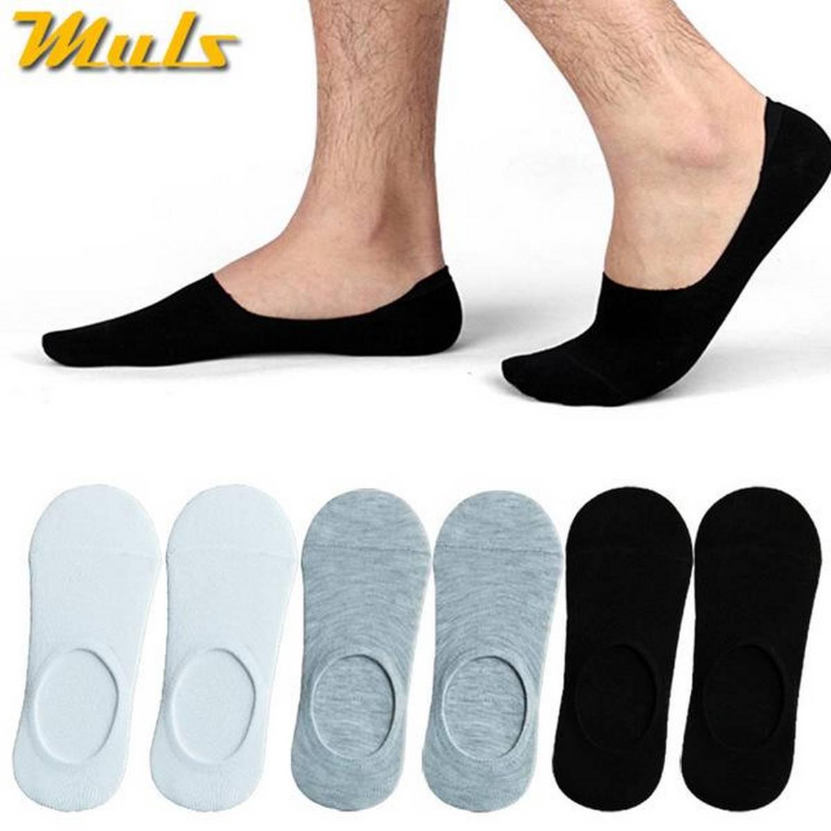 Pack Of 6 Cotton No Show Socks / Loafer Socks For Men