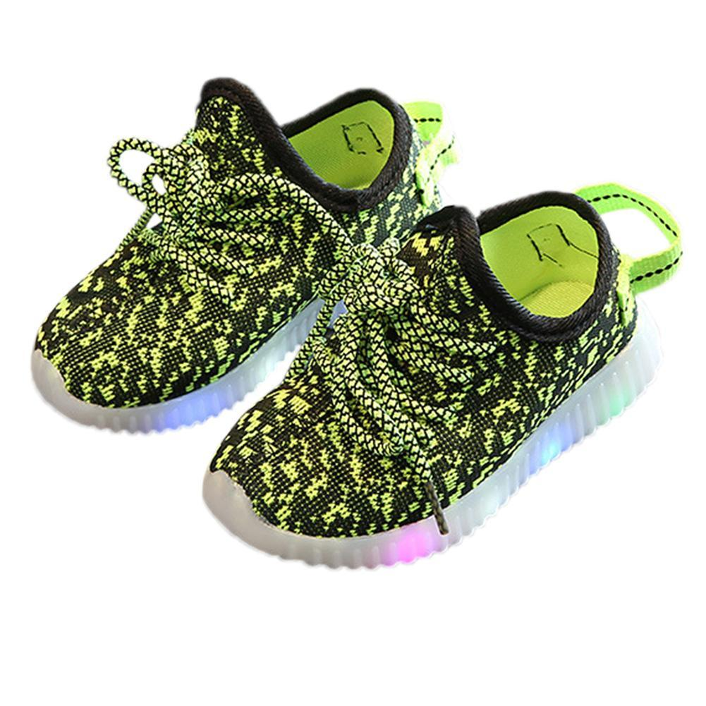 70db6833d2a Product details of Poplikdfr Baby Kids Breathable Mesh Sports Shoes with  LED Luminous Sneakers Shoes