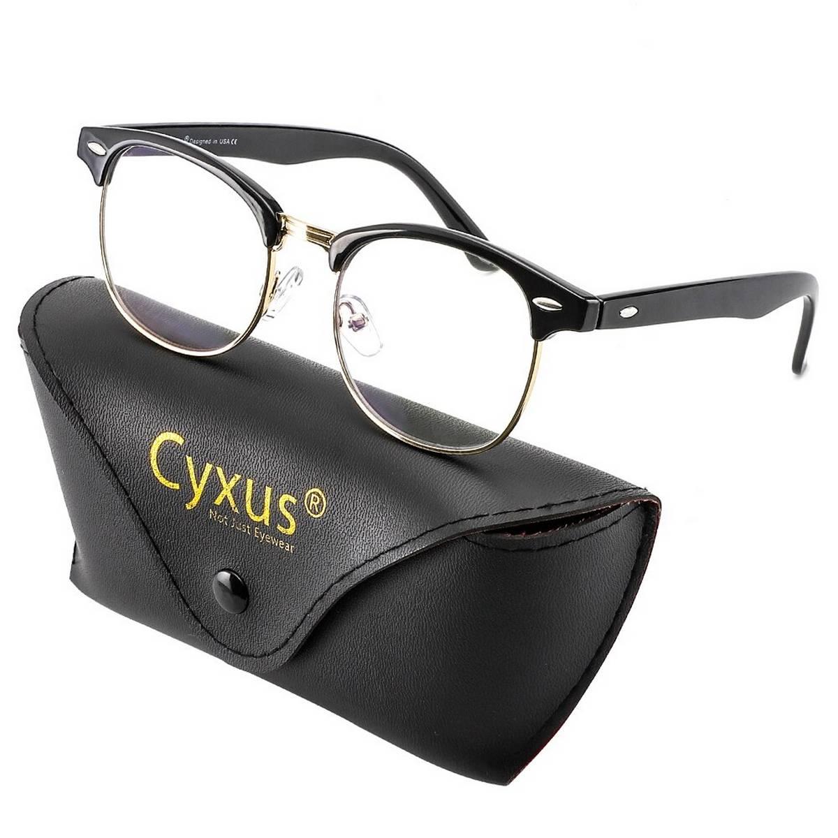 Best Quality New Design Transparent Stylish Glasses with Black Frame For Men/Women