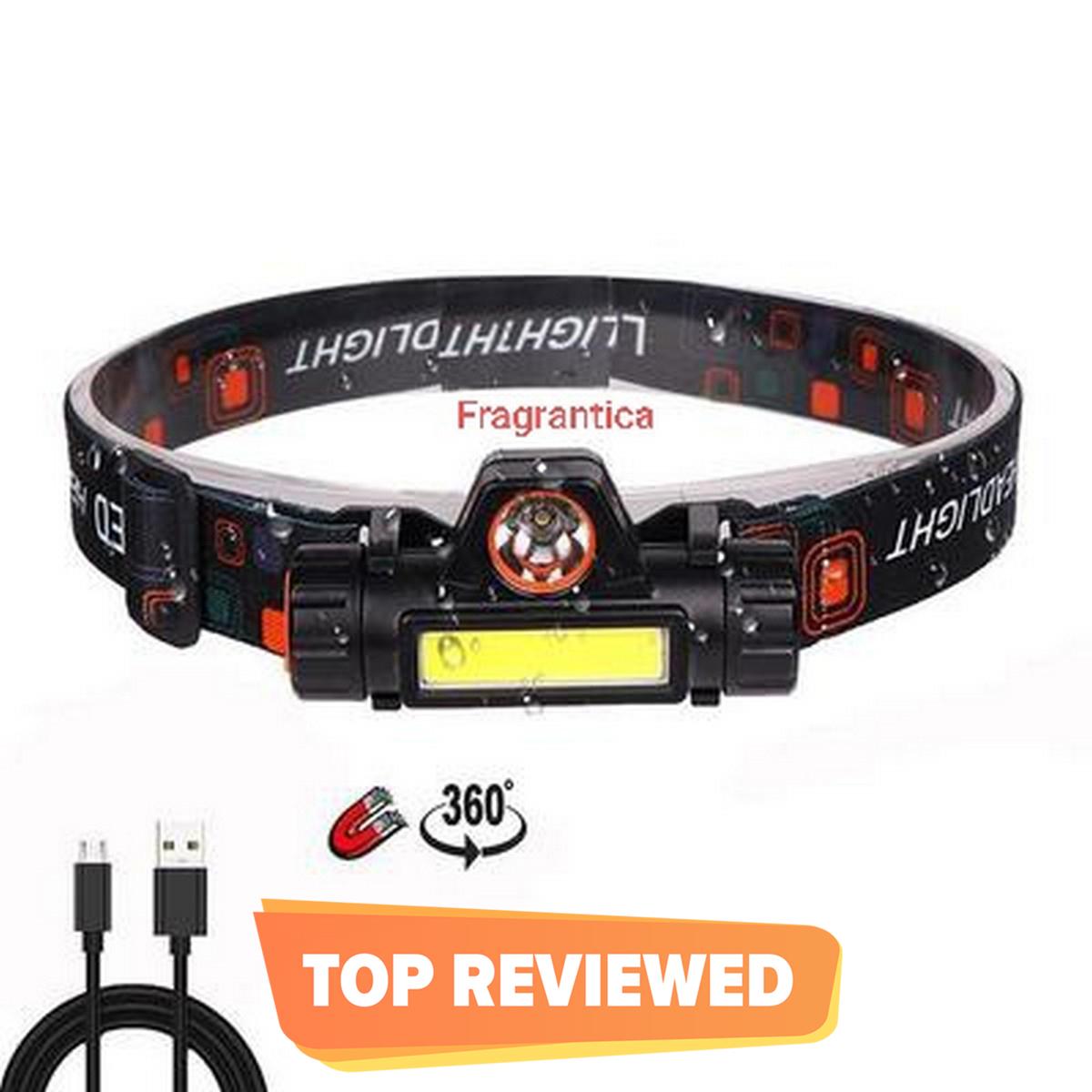Mini High Power LED Headlamp Built-in Battery T6+COB USB Rechargeable Headlight Waterproof Head Torch Head Lamp