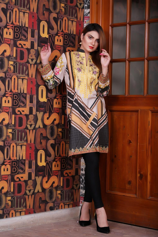 a3113b962a Multicolor – DAQIQ Digital Embroidered Kurti Collection Lawn – Unstitched  Fabric for Women