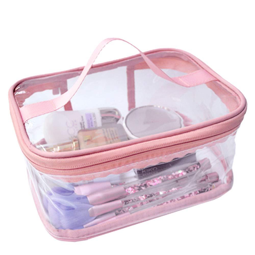 Multi Purpose Cosmetic PVC Plastic Bag Organizer Storage Jewellery Vanity Box Makeup Kit (Transparent)