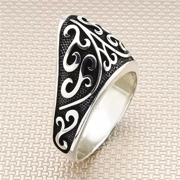 925 Sterling Silver Ottoman Kayi tribe Thumb Ring Men's Ring Exclusive Chic Accessory for Men Special Gift Made in Turkey