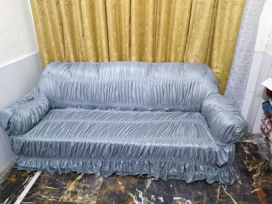 Sofa Cover Elastic for 5 seater,6 seater and 7 seater Stretchable sofa cover- Grey