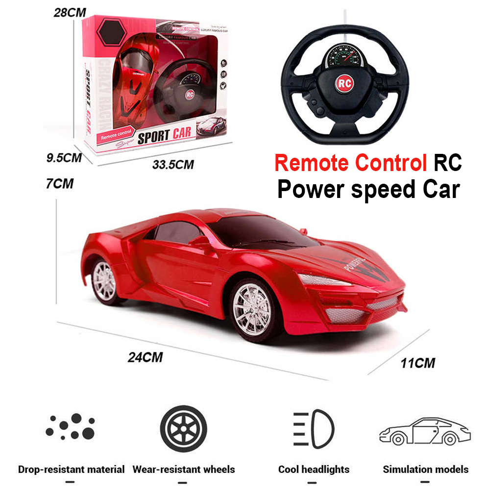 Power speed Steering Remote control car best RC kids toy for boys and girls 1:20 scale [Radio Control]