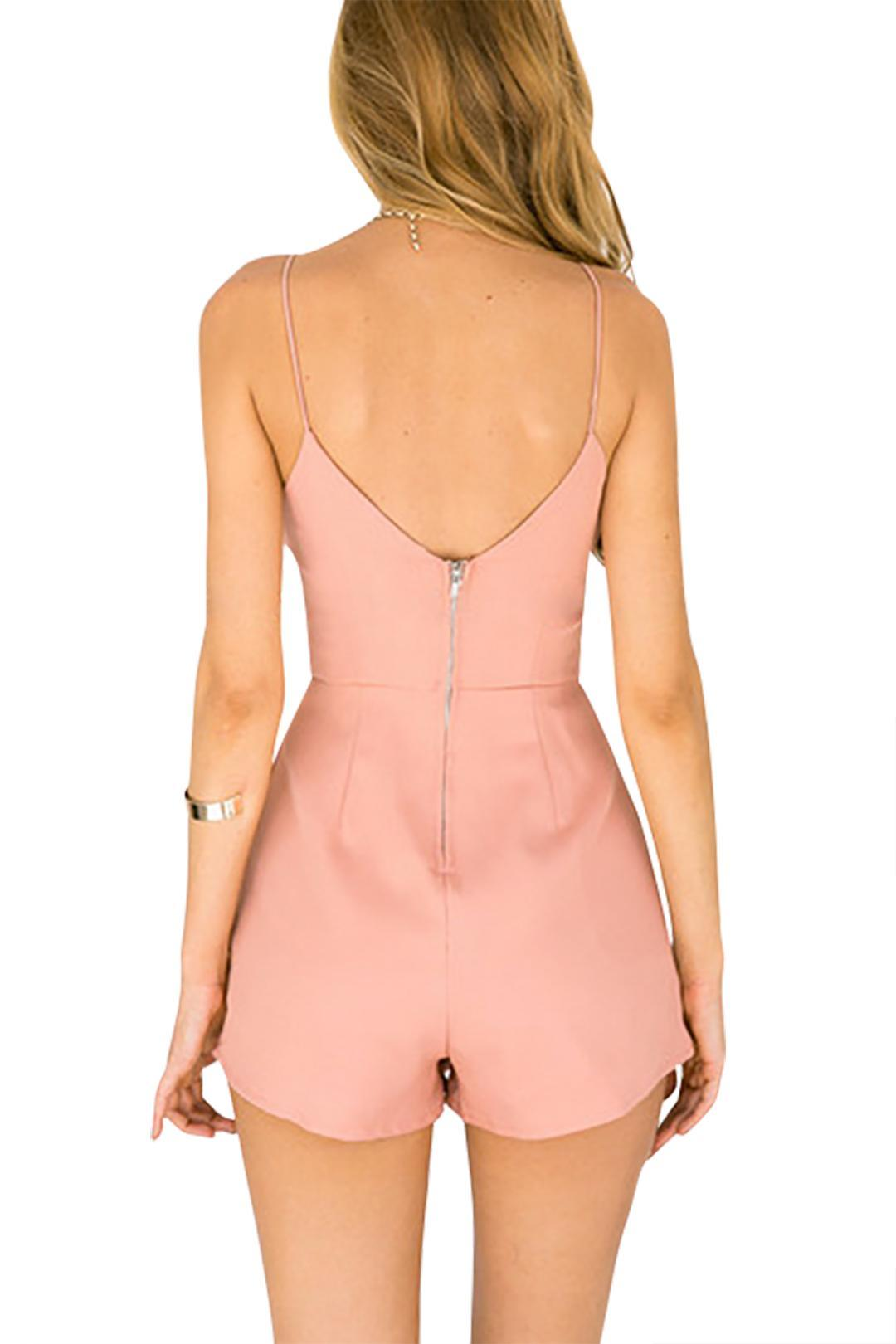 0e91d9249a Specifications of YOINS Women New High Fashion Clothing Casual Sleeveless V-neck  Playsuit with Zip back Fastening