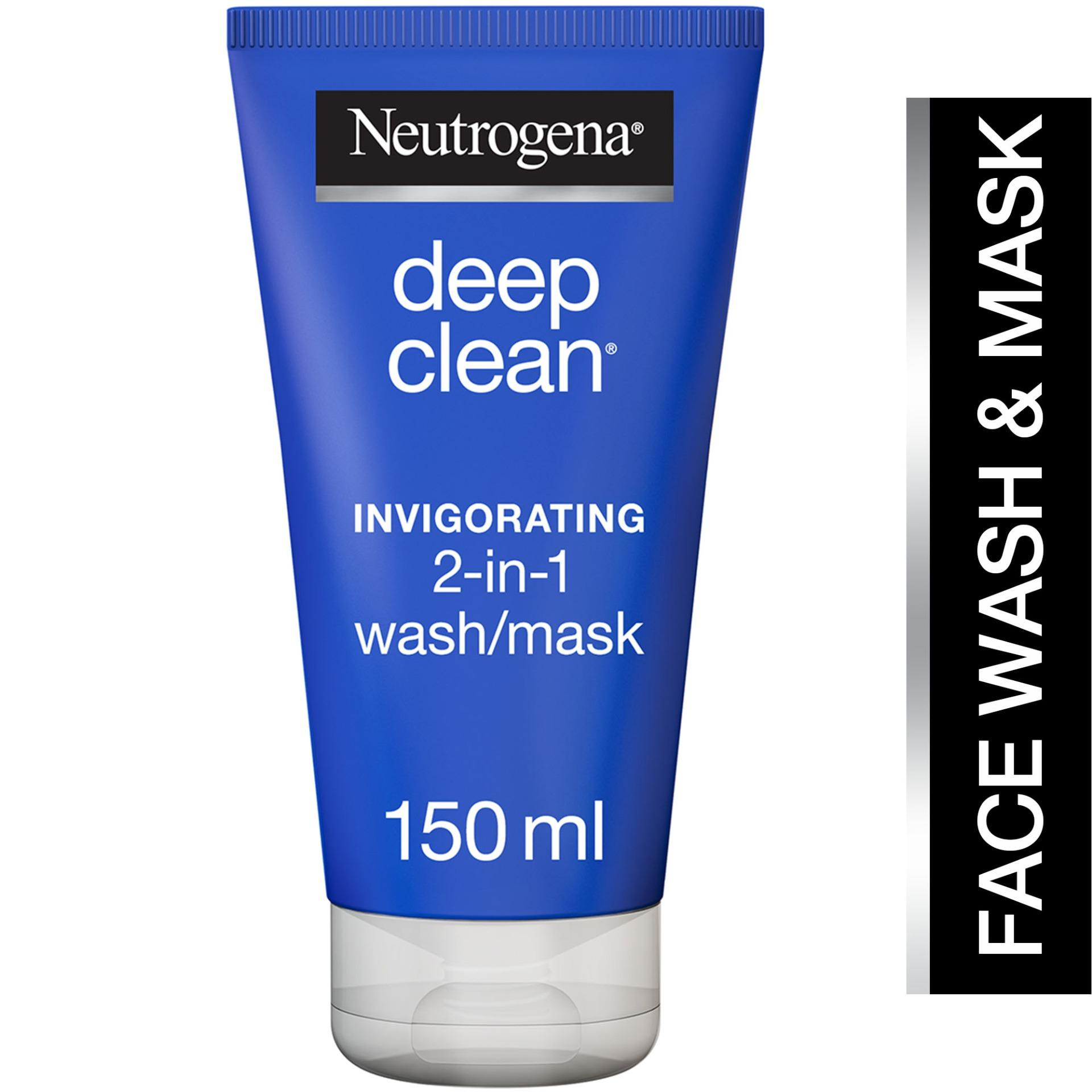 Neutrogena Deep Clean Invigorating 2 In 1 Wash Mask 150Ml