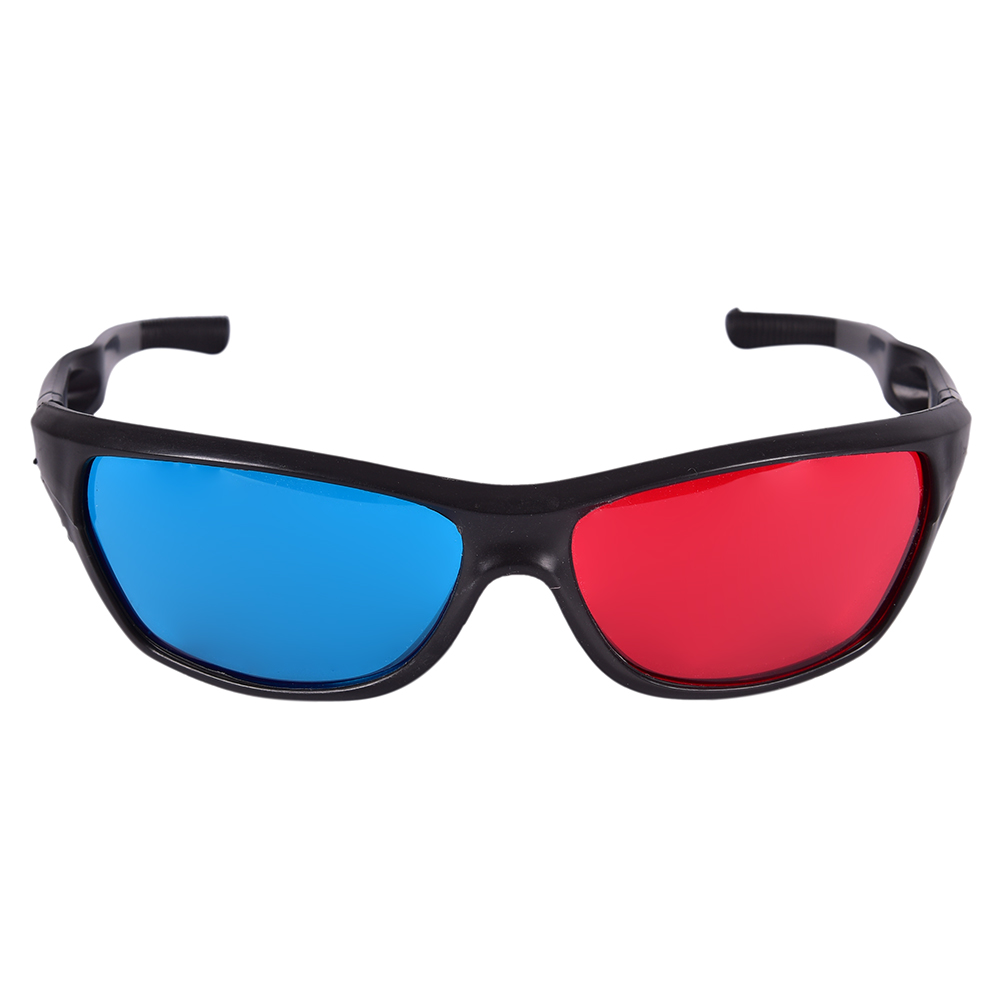 Red Blue Anaglyph 3D Glasses for Dimensional Anaglyph Movie Game DVD on Laptop etc 3D Glasses