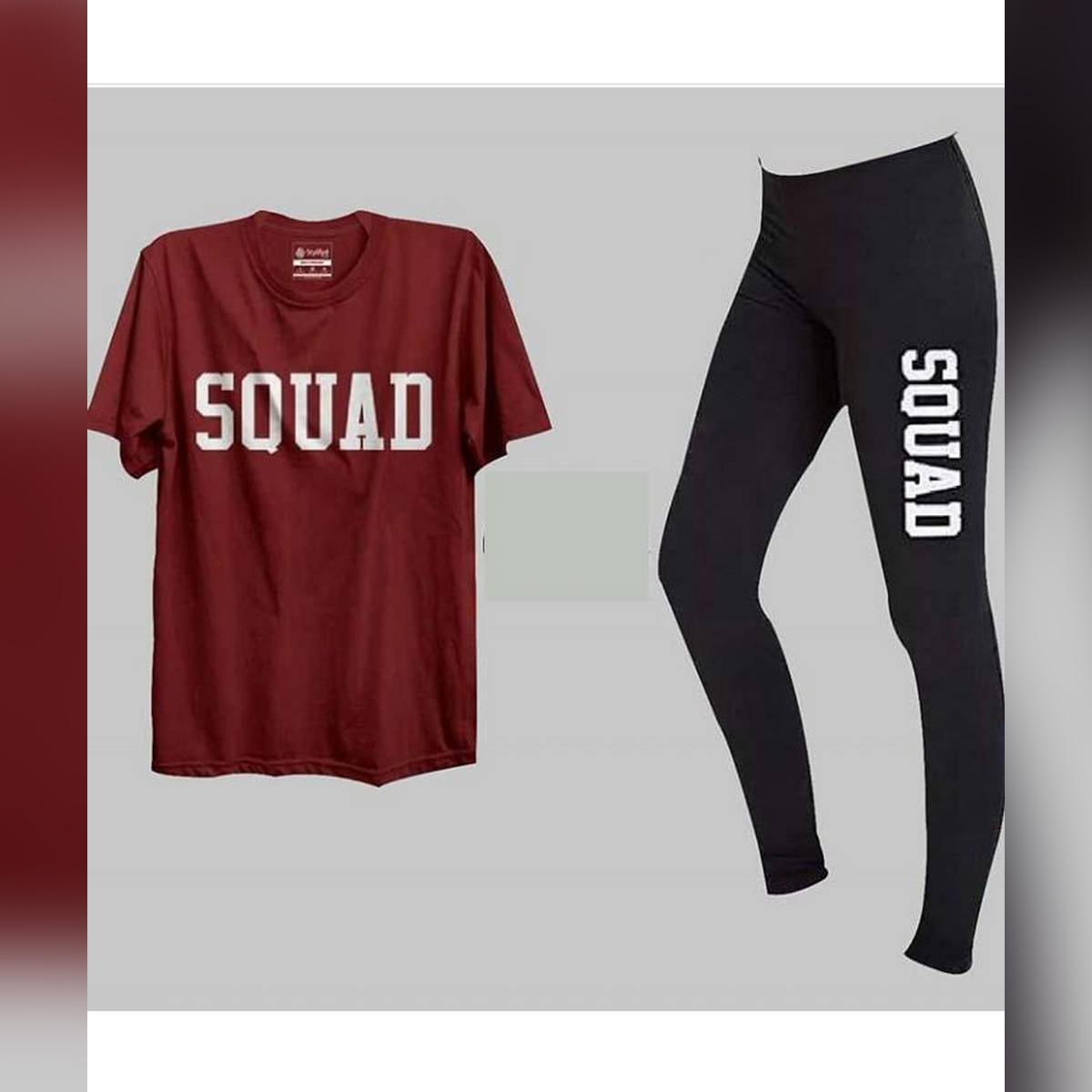 Pack of-2 Printed tshirt &Tights For Gym & Jogging