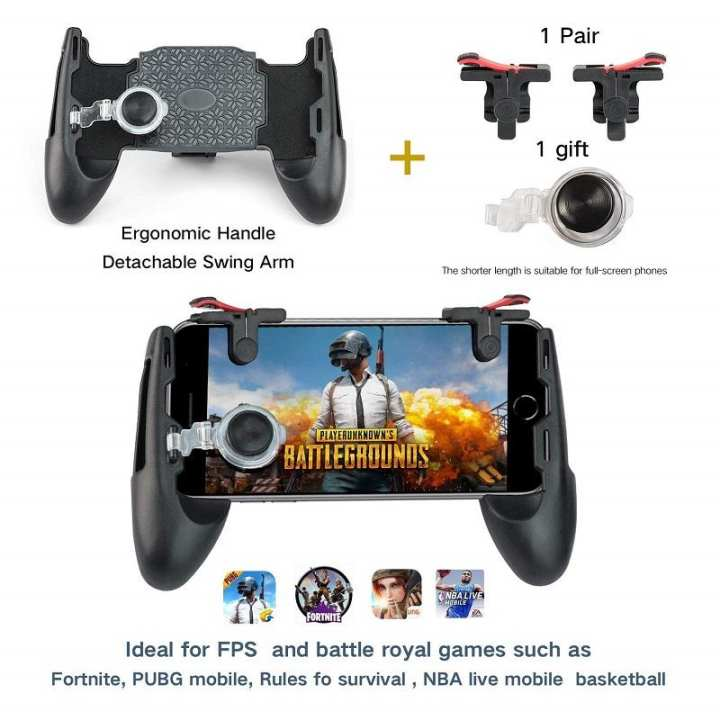 PUBG/Fortnite/Rules of Survival Support Buttons L1R1 Trigger Android and iOS (5 in 1)