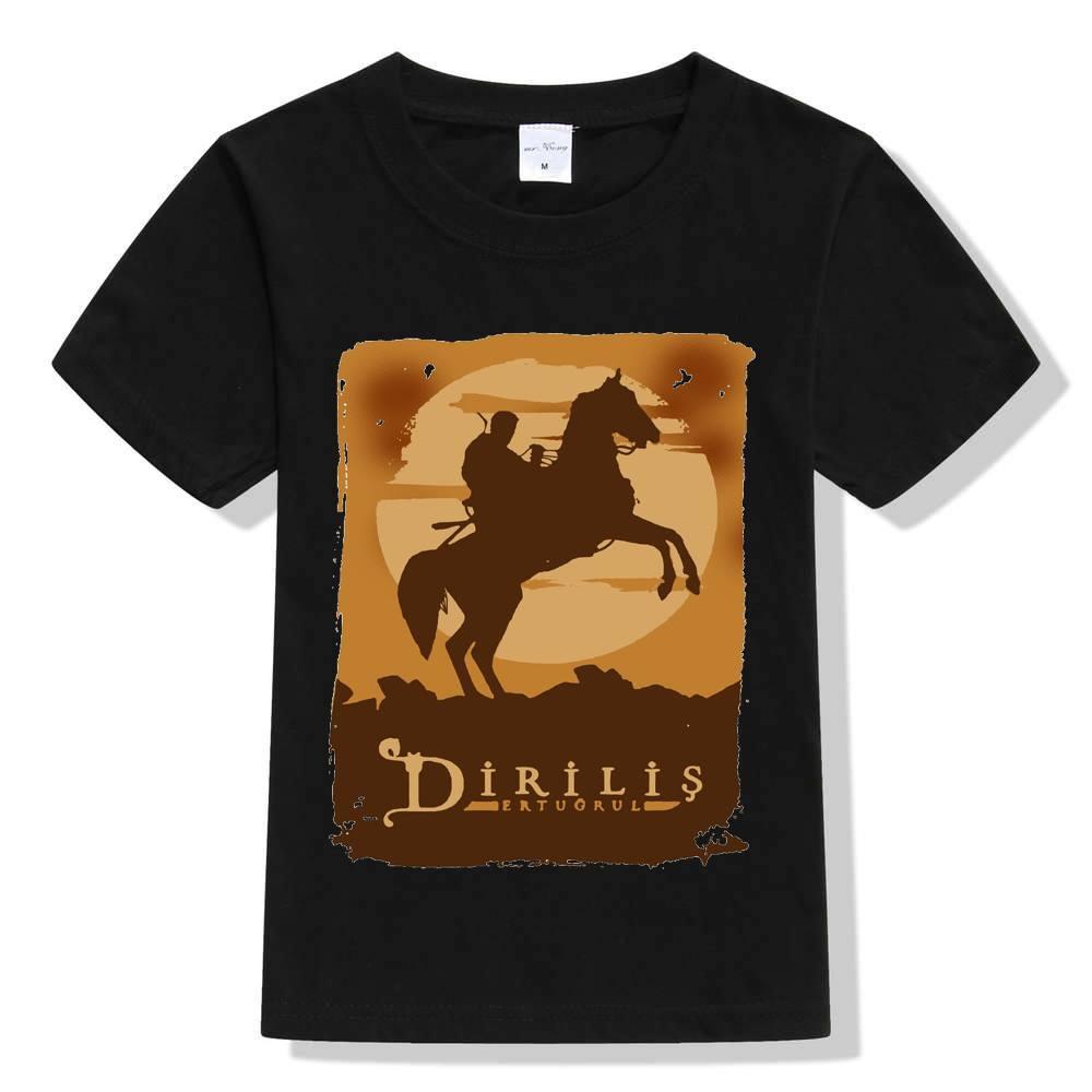Dirilis Ertugrul Black Printed T-shirt For kids