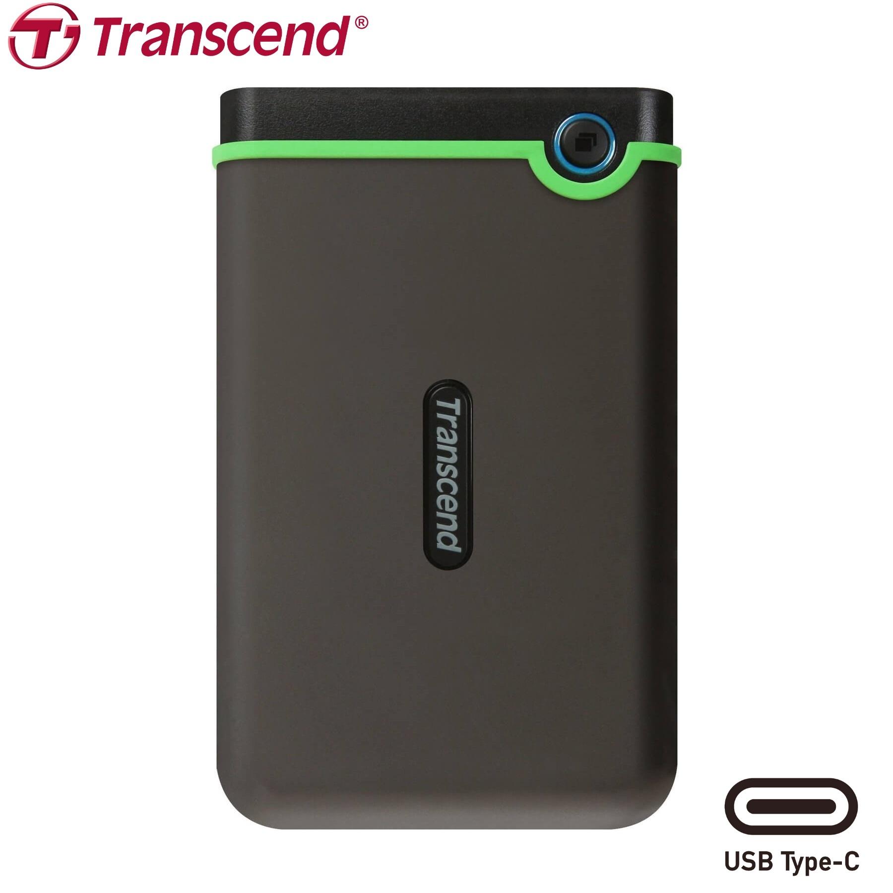 Transcend 2TB StoreJet® 25M3C Type-C USB 3.1 External Hard Drive Military Drop Tested