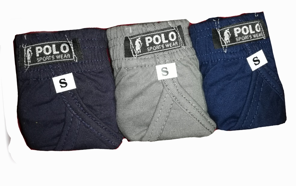 100% Cotton Underwear for Men (Pack of 3 - Multi Color)
