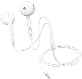 Universal Wired Handsfree For All Phones Support all 3.5mm jack mobile - White