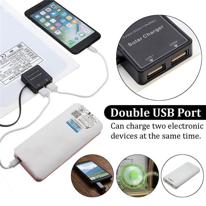 30W DC12V//5V Double USB Solar Panel+12inch 11W DC Fan+1.2m DC Line For