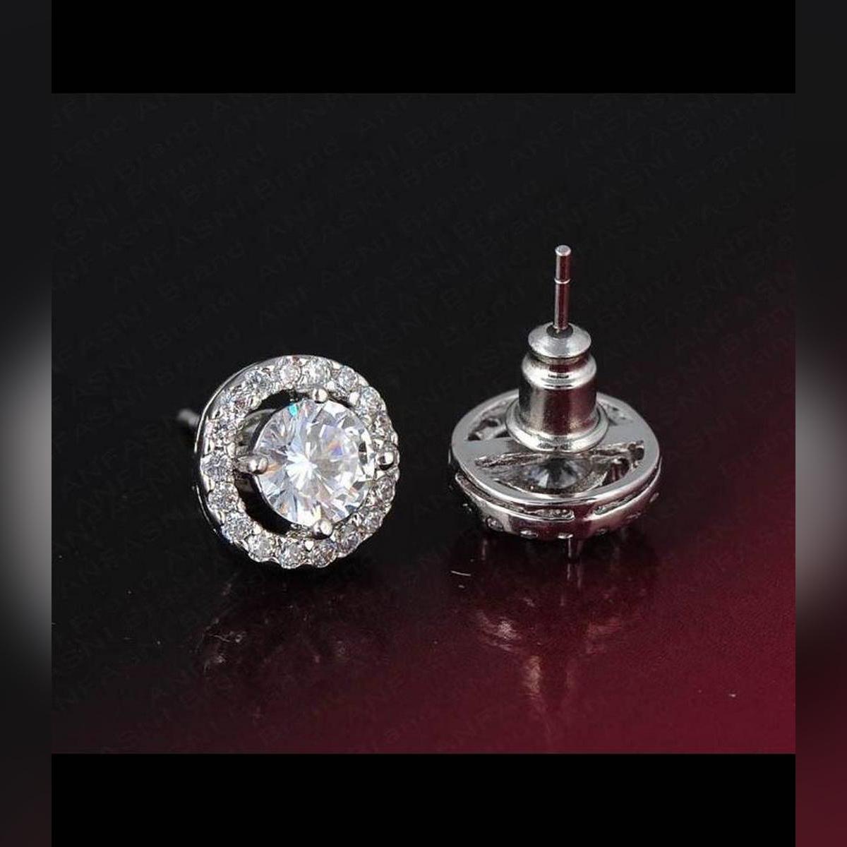 Silver Stud Earrings For Women Jewelry