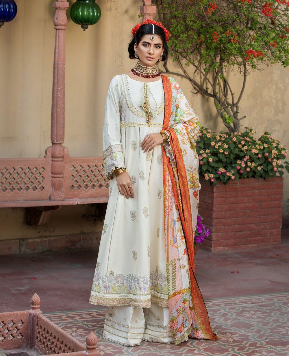 Ittehad Textile Woman 3 Pcs Embroidery Lawn Suit ELMAS Unstiched Fabric