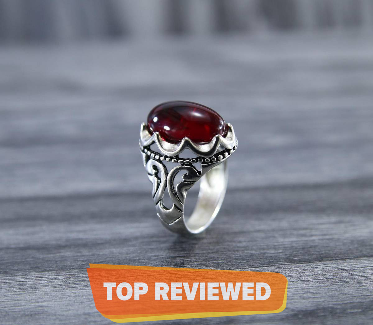 Saudi Aswad New Trendy Men's Ring Vintage Stone Turkish Ring For Men & Boys
