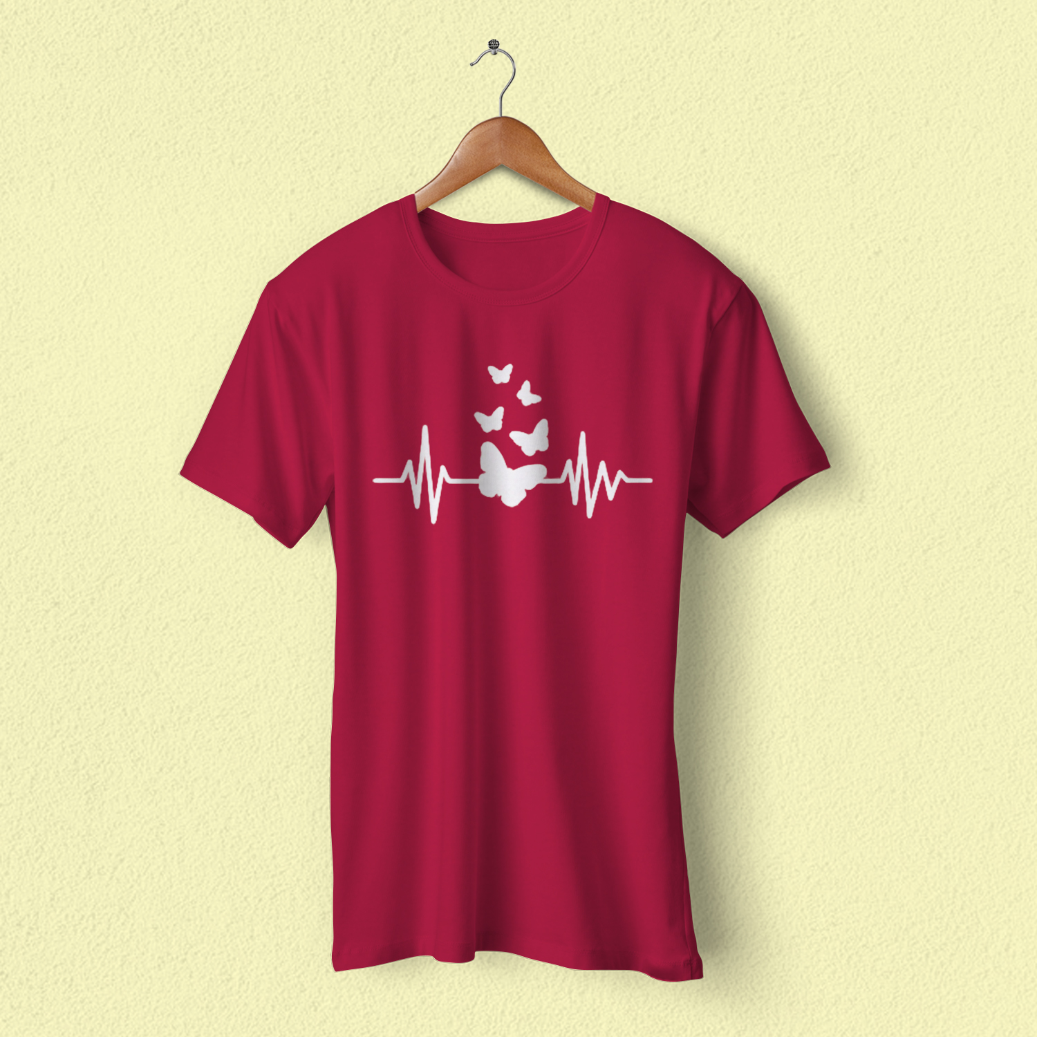 Hearts Printed Round Neck Half Sleeves Best Quality For Casual & Night Wear Multi Color Cotton T Shirt For Ladies Women & Girls