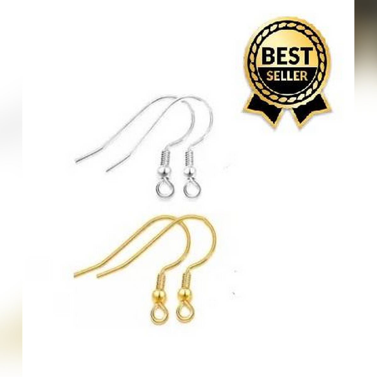 20 Pairs Of Golden & Silver Earrings Hooks Base For Jewellery Making