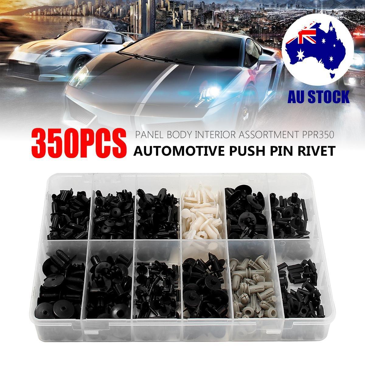 200 Pcs Black Plastic Rivet Trim Push-Type Clips 7mm x 14mm x 18mm for Honda