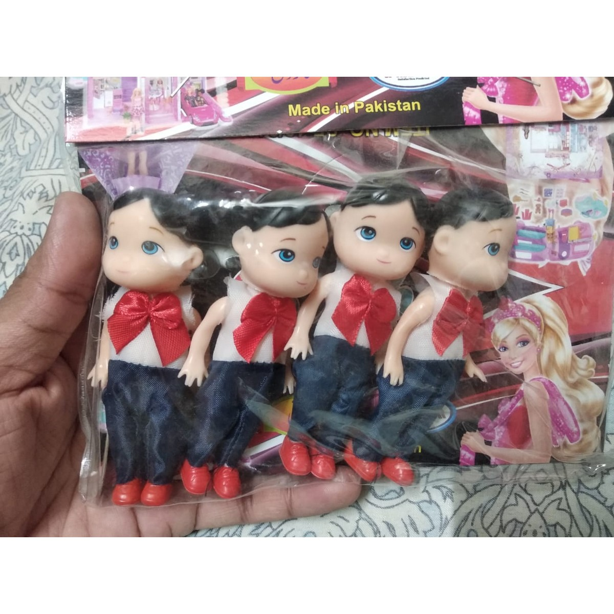 Pack of 4 Dolls Boys With Fancy Dress