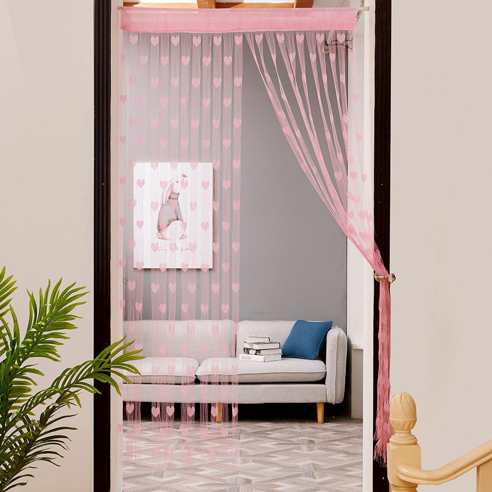 Pink Wire String Blinds Curtain
