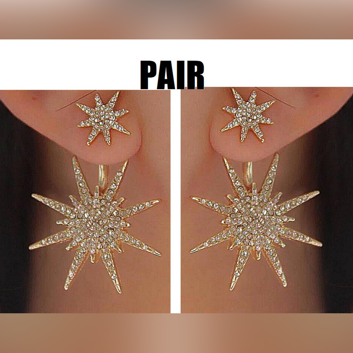 For Both Ears Hot Selling Crystal Pair High Class Trendy Earrings