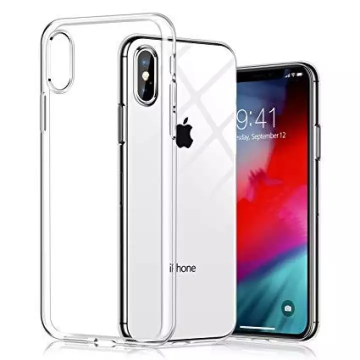 Iphone XS Max Transparent Jelly Soft Back Cover 1mm Thickness