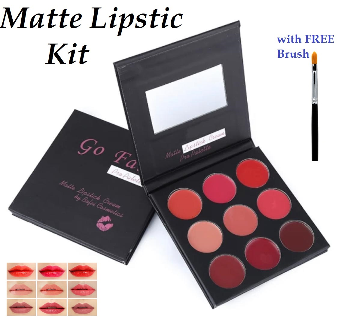 Beautiful Colors Matte Long Lasting Waterproof Lip Cream Palette Kit Red Sexy Pigments Matte Lipstick Platte