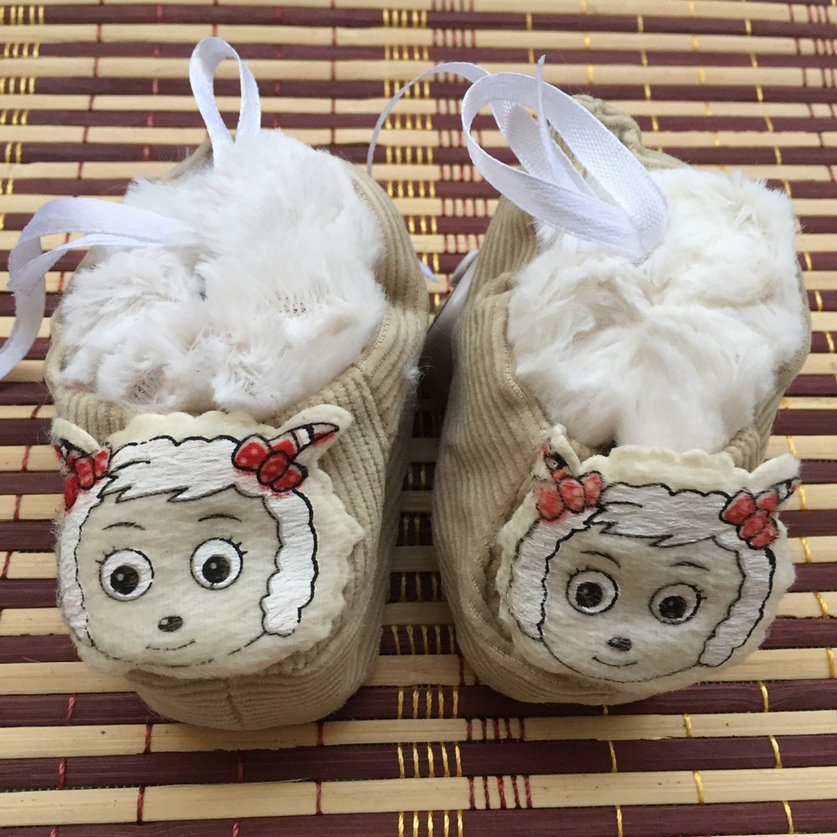 High Quality Newborn Baby Soft Cute Cartoon Characters Face Fancy Booties Socks Shoes - 0-6 Months Infant Toddler New Born Baby 3D Booties Shoes Accessories