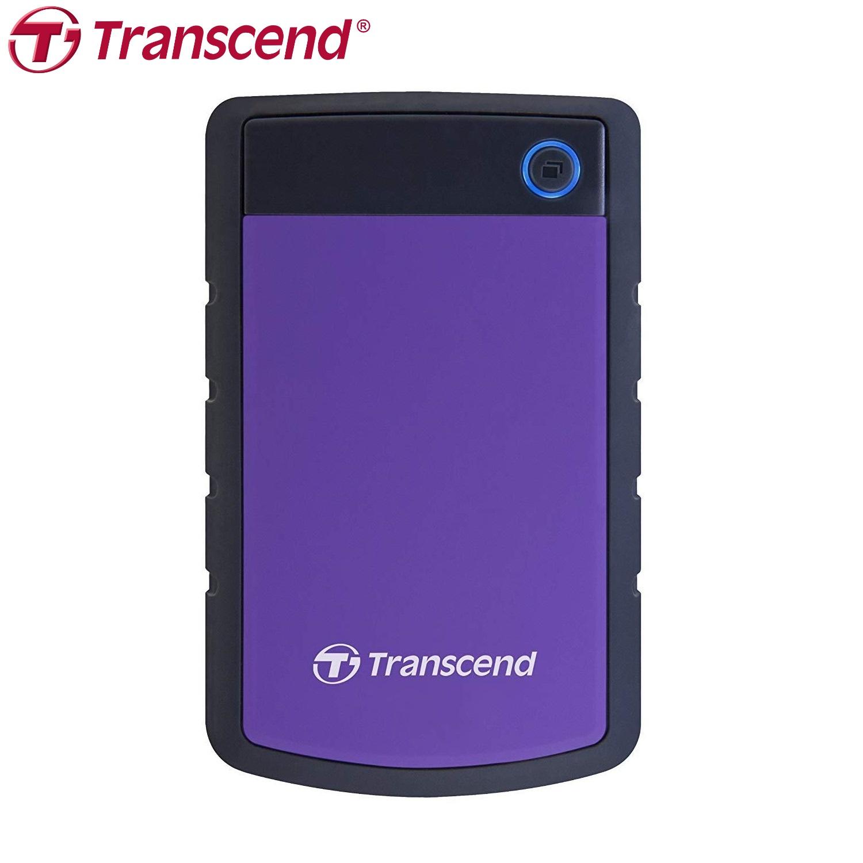 Transcend 2TB StoreJet 25H3P USB 3.1 External Hard Drive Shock Proof Military Drop Tested