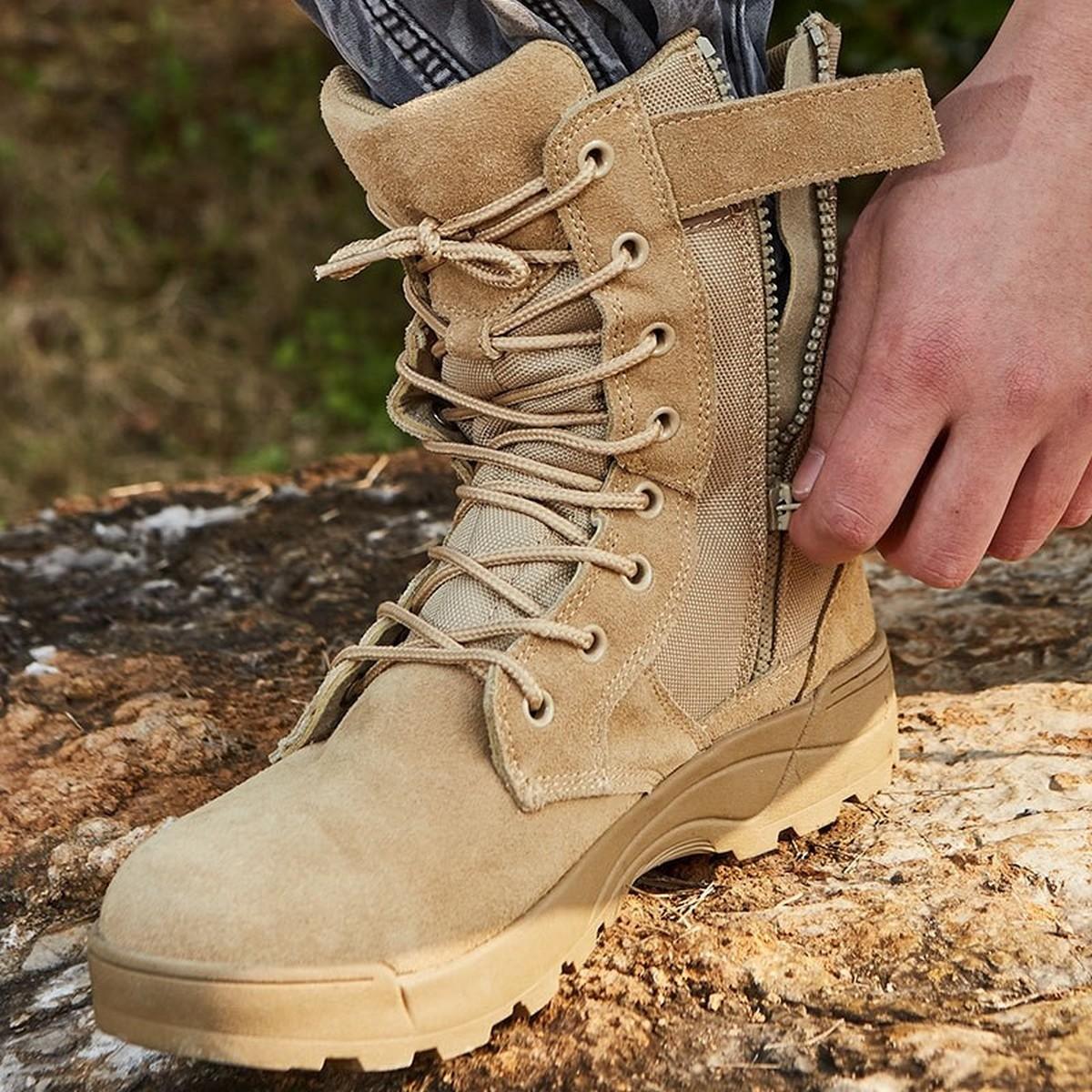 orignal Sawat army commando shoes Khaaki Colored Commando Trekking Boots for men & Boys