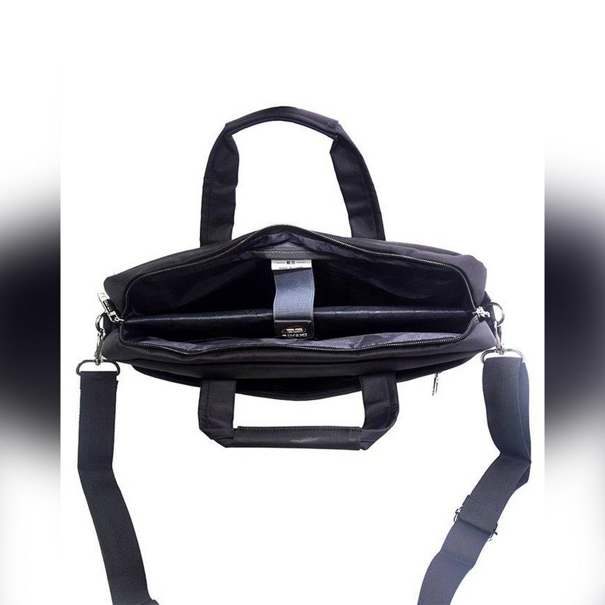 17 inch Trendy Business Men's Briefcase Laptop Bag Backpack - Black