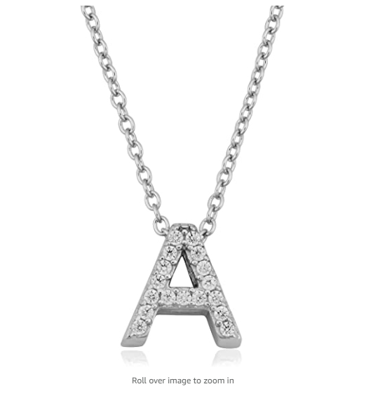 Silver Stainless Steel Alphabet Necklace/Locket/Pendants for Girls & Women with Chain - A to Z Your Name Alphabets
