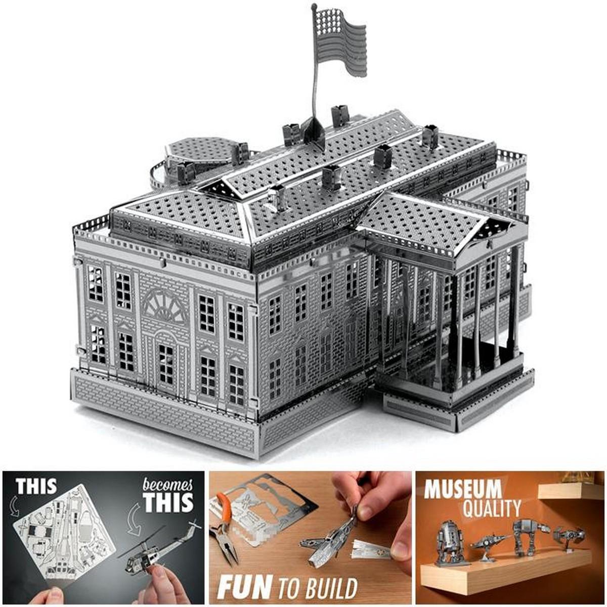 White House DIY Metal Model - Unassembled