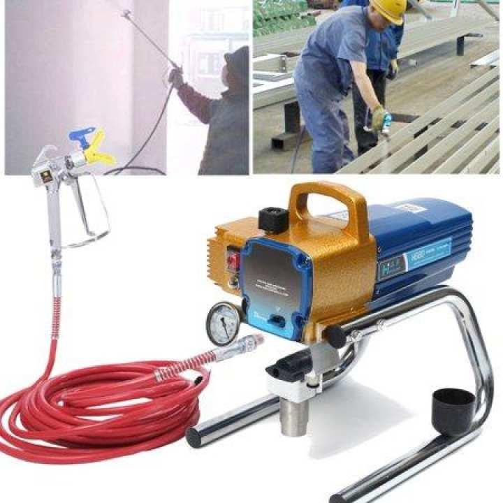 H680 High Pressure Airless Wall Paint Spray Sprayer Machine Professional Set