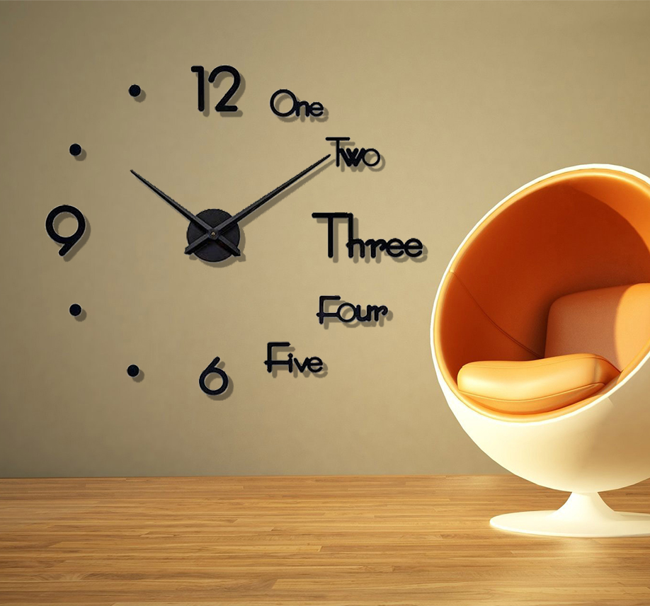 The New design wooden wall clock- 3D clock-diy clock-dotz brand black clock-clock for home and office-new stylish and decorative clock-clock wall-beautiful clock-new design elegant clock,clock for girls-clock for gift